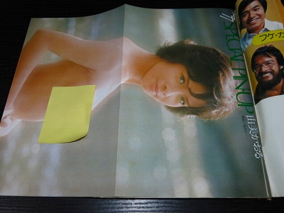 週刊プレイボーイ77年1号秋吉久美子由美かおるアグネスラム